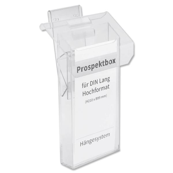 Prospektbox DeLuxe: Infobox für DIN lang Flyer, für KFZ oder zur Wandmontage