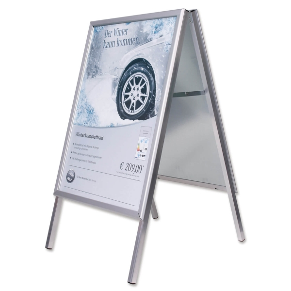Kundenstopper Rom für DIN A1 Plakate, 32mm Alu-Klappprofil Stahlblech verzinkt