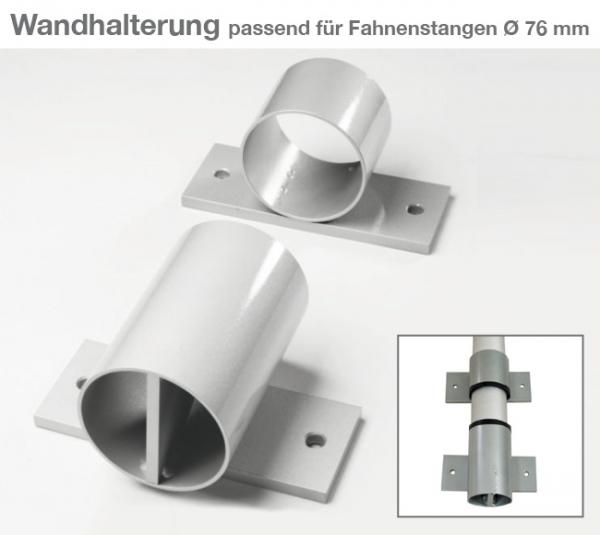 Wandhalterung 2-teilig, für Fahnenmaste mit  Ø 76 mm zur Wandmontage für Ø 76mm