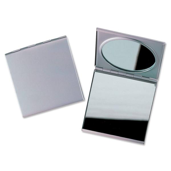 Damenspiegel Make-up-Spiegel 2-fach: mit Normal- und Vergrößerungsspiegel