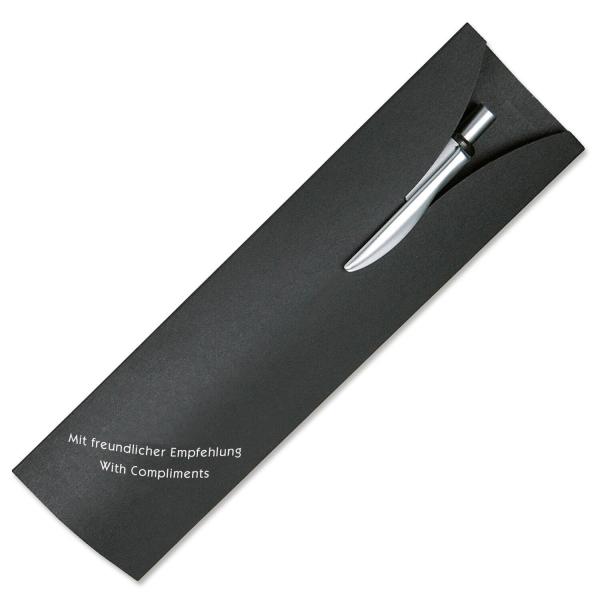 Präsentverpackung aus Karton für Kugelschreiber 1-farbigem Aufdruck