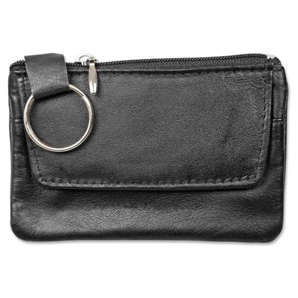 Schlüsseltasche aus echtem Leder, zusätzliches Fach für Kleingeld TampDruck mögl.