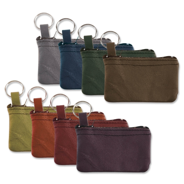 Schlüsseltasche 705 Schlüsseltaschen aus Leder, farbig gemischt Blindprägung
