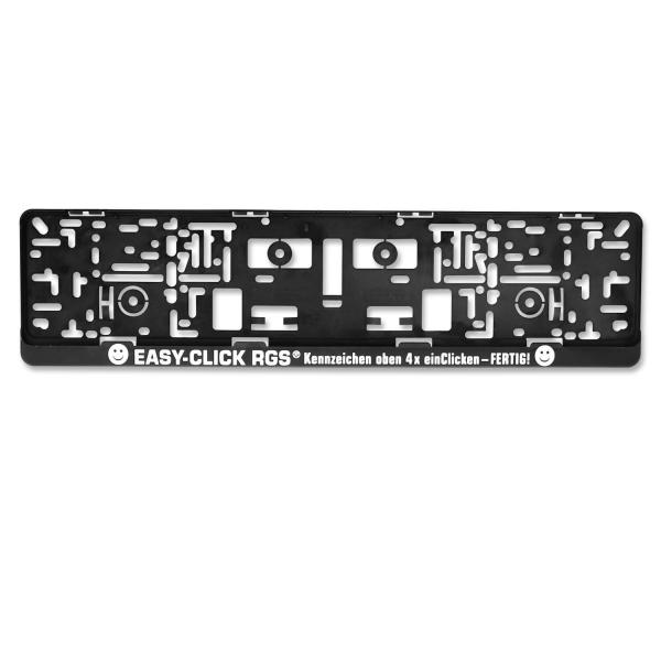 Kennzeichenhalter EASY-CLICK RGS ®: Clickverschlußtechnik mit 1-Farbdruck