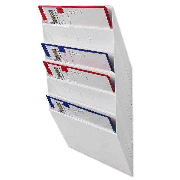 Prospekthalter Office-Line: 6 Fächer für A4 Querformat
