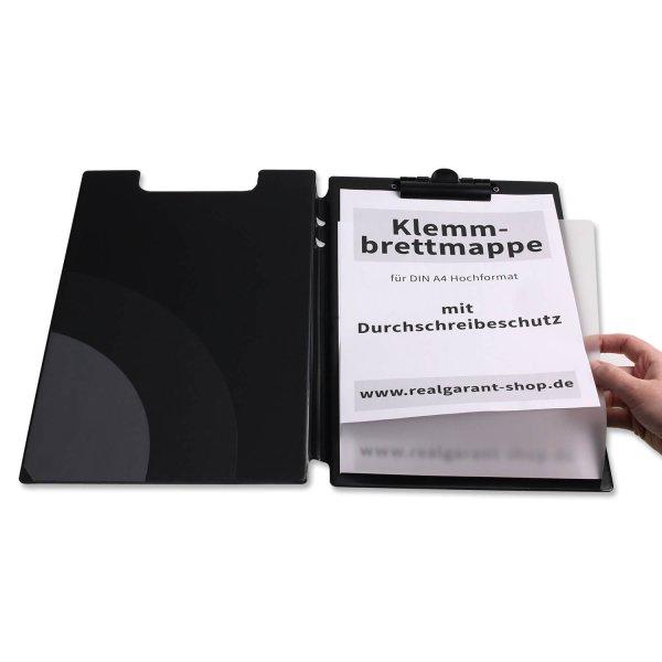 Klemmbrett-Mappe A4 mit Klemmleiste und Durchschreibschutz