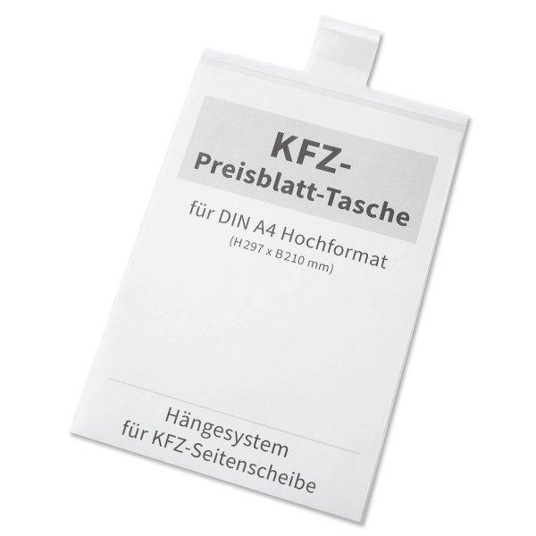 Preisblatt-Tasche A4 Light I: für KFZ-Seitenscheibe