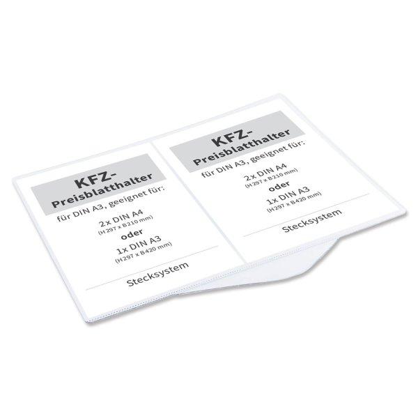 Preisblatthalter Car-Fix-2: für 2x DIN A4, Stecksystem