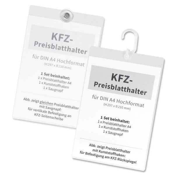 Preisblatthalter A4 Car-Flex: KFZ-Seitenscheibe oder Spiegel