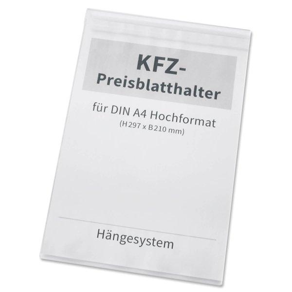 Preisblatthalter A4 zum Einhängen an der Kfz-Seitenscheibe