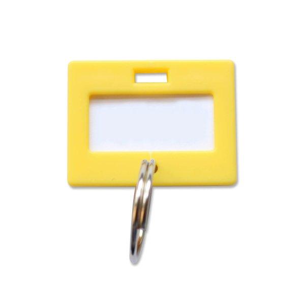 schl sselanh nger individuell beschriftbar 50 st ck gelb gelb. Black Bedroom Furniture Sets. Home Design Ideas