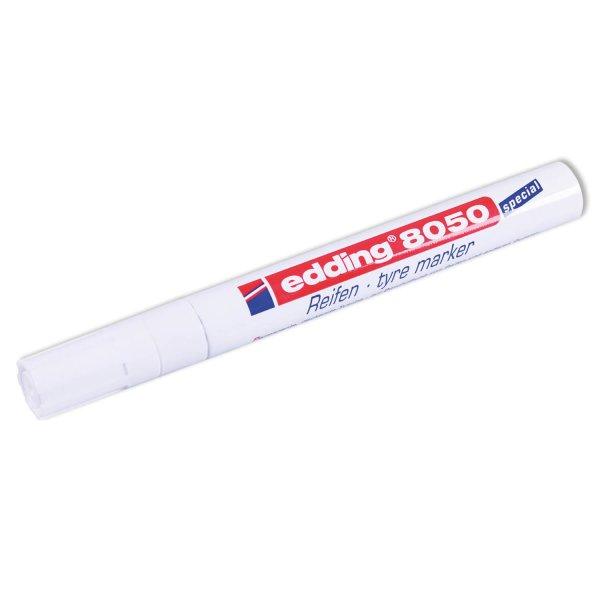 Reifen-Markierstift Edding 8050: Permanentstift mit guter Deckkraft