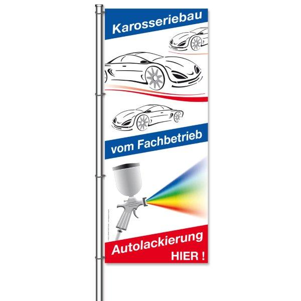 Fahne Autolackierung und Karosseriebau: hier !  H 300 x B 120cm