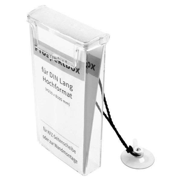 Infobox/Prospektbox Flexible: für Autos oder zur Wandmontage f. DIN Lang Prospekt