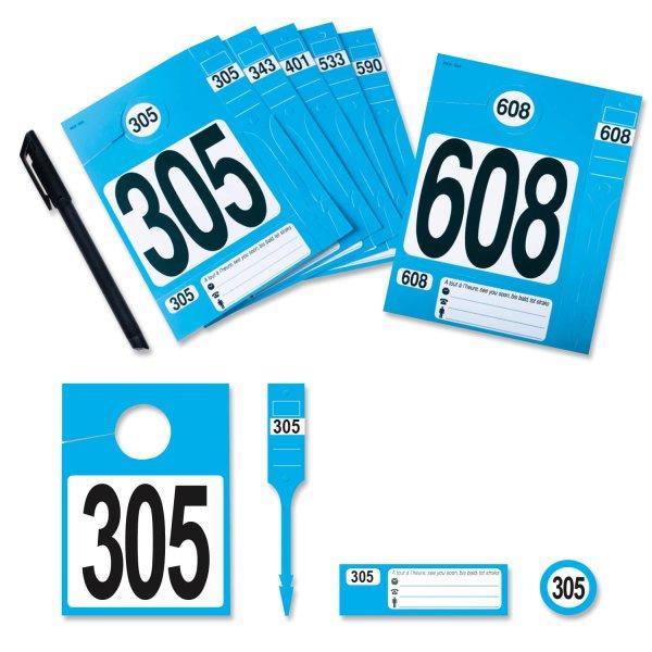 Leitzahl-Set 305-608 zur Fahrzeugorganisation: Nr.305 bis 608