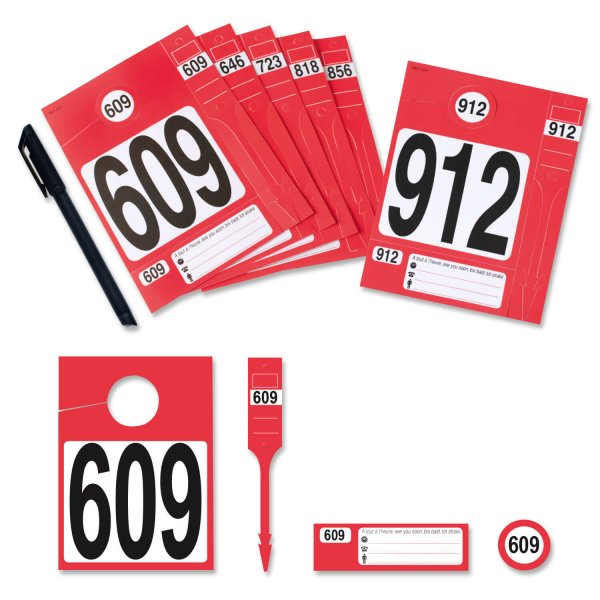 Leitzahl-Set 609-912 zur Fahrzeugorganisation: Nr.609 bis 912