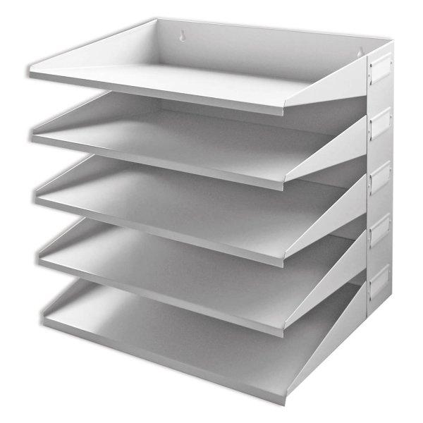 Sortierreck 5-fach Ablage-Sortiersystem: für Wand und Tisch