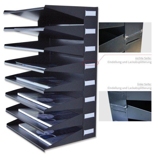 Sortierreck 8 Fächer Ablagesystem: für Wand & Tisch: B-Ware ! zum Sonderpreis