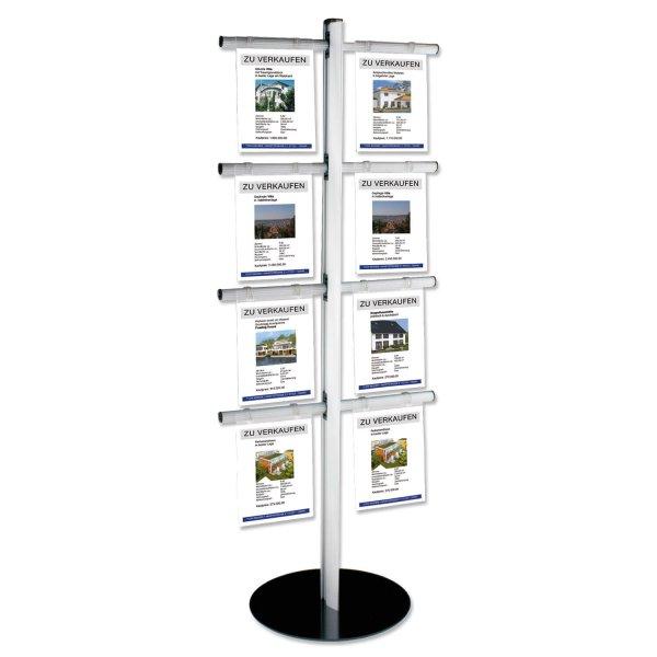 Infoständer 8/16 xA4 8 Infotaschen für bis zu 16 x DIN A4 Hochformat aus Acryl