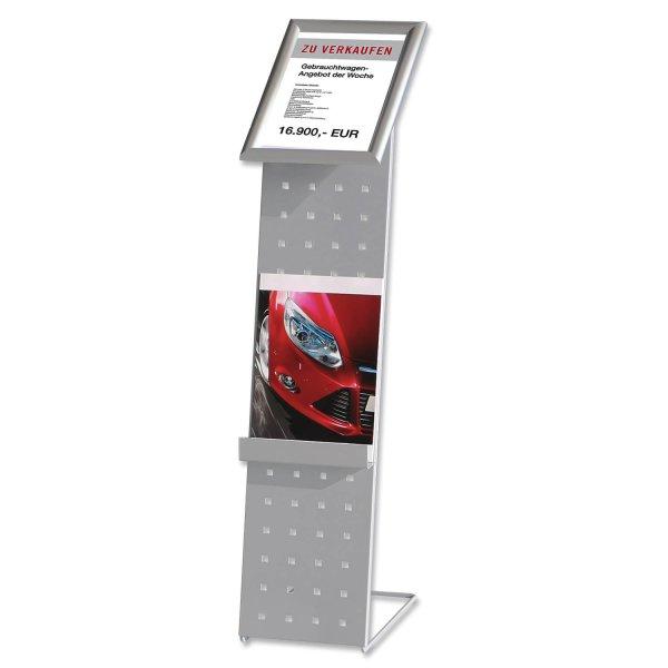 Infoständer Sale: Schnellwechselrahmen für A4-Infoblatt, Prospektfach A4 hoch