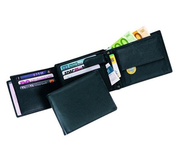 Geldbörse mit 11 Kreditkartenfächern und 4 Einsteckfächern TampDruck mögl.