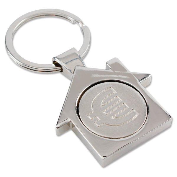 """Schlüsselanhänger """"Haus"""": mit  Einkaufswagenchip"""