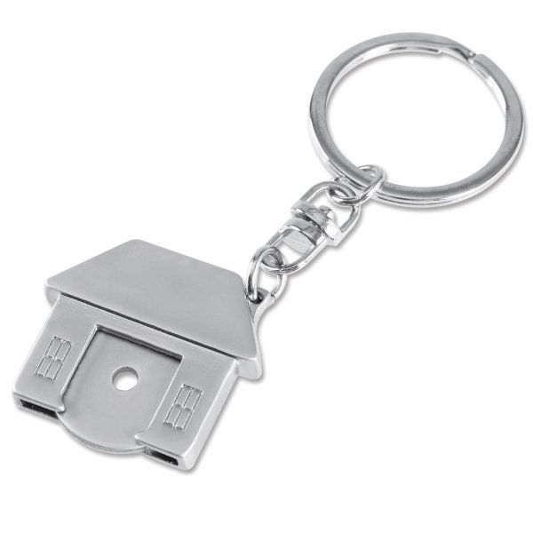 Schlüsselanhänger HOME: mit Einkaufswagen-Chip und Flaschenöffner