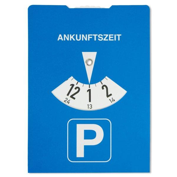 Parkscheibe Karton Eco-Maxi: mit extra großer Werbefläche  1-Farbdr. mögl.