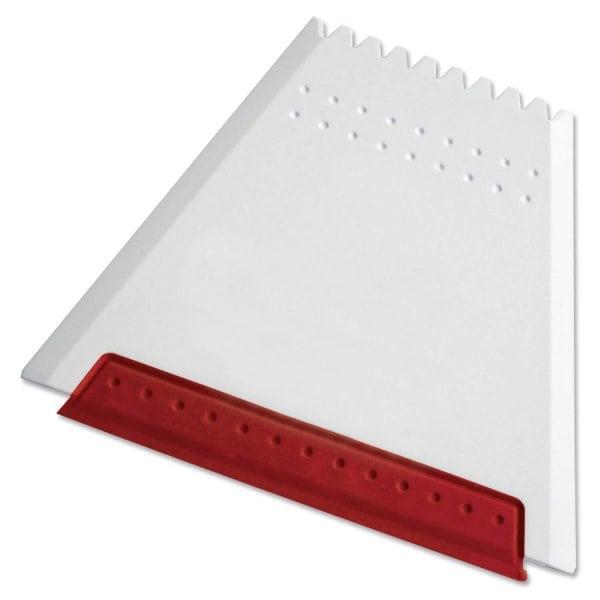 Eiskratzer Trapez White Colour Mit Farbiger Gummilippe Weiss Rot
