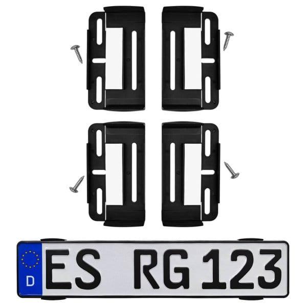 Kennzeichenhalter 2x Universal-Set Duo: für 2 Kennzeichen