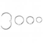 Metall-Klappringe stabile Ringe zum Aufklappen: Ø 26 mm ( VPE = 25 Stück )