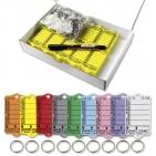 Schlüsselanhänger Autotag 1: 200 Anhänger + Ringe, 1 Stift