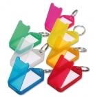 Schlüsselanhänger Maxi: aufklappbar, 2-seitig beschriftbar