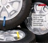 Ventilanhänger zur Rädermarkierung: 4er Set VL/VR/HL/HR auch beschriftbar