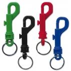 Karabinerhaken mit doppelt gedrehtem Schlüsselring