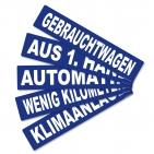 Miniletter Gebrauchtwagen: Kennzeicheneinleger