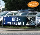 Spannband PVC KFZ-Werkstatt: aus reißfester PVC-Plane mit Bildmotive
