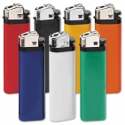 Reibradfeuerzeug farbiges Einwegfeuerzeug, silberne Kappe