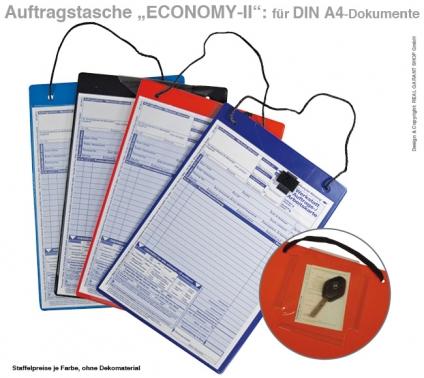 """Auftragstasche """"ECONOMY II"""" mit Klettverschluss für DIN A4 Dokumente"""