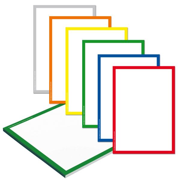 Papier-Passepartout für DIN A4 Preisblatthalter, Infohalter  Rot/Weiß