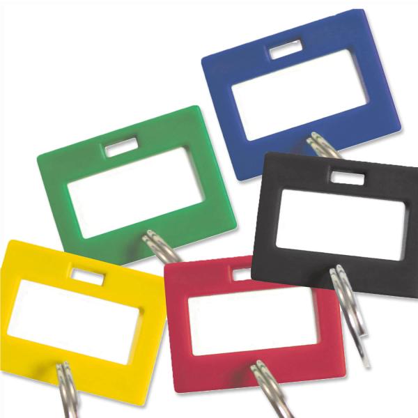 Schlüsselanhänger individuell beschriftbar, 50 Stück  Rot