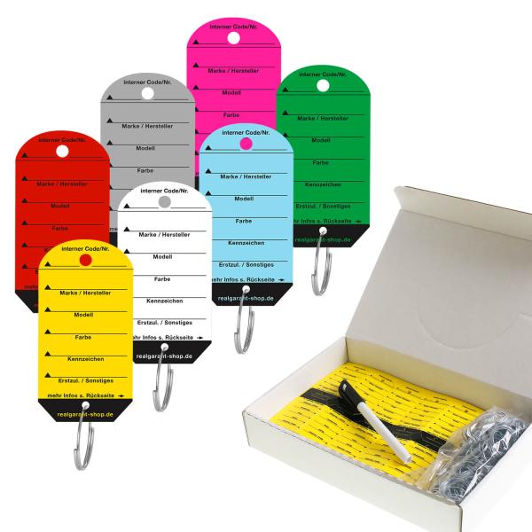 Schlüsselanhänger Car: Sparpackung mit 200 Stück, 1 Stift  Gelb