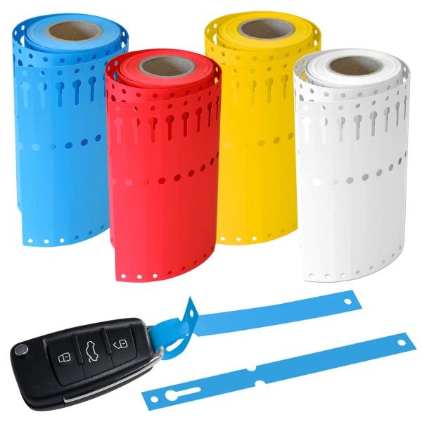 Schlaufenetiketten Schlaufenanhänger L 160 x B 13 mm, PVC 1000 Stk. auf Rolle Weiss: 1000 Stk
