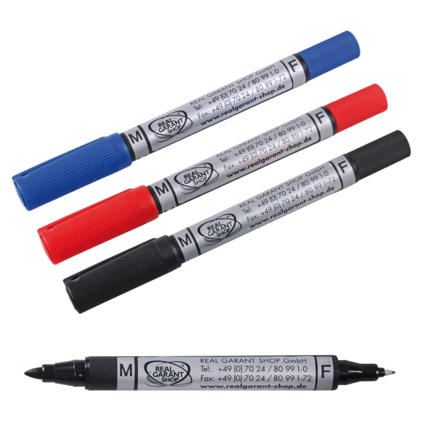 Duo-Marker 2 in 1 lichtbeständig, sehr gute Deckkraft, 1,5mm / 0,6mm Schwarz
