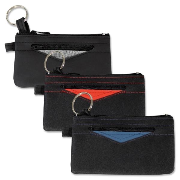 Schlüsseltasche Pepp Key mit farbiger Dreiecksapplikation Dreieck rot