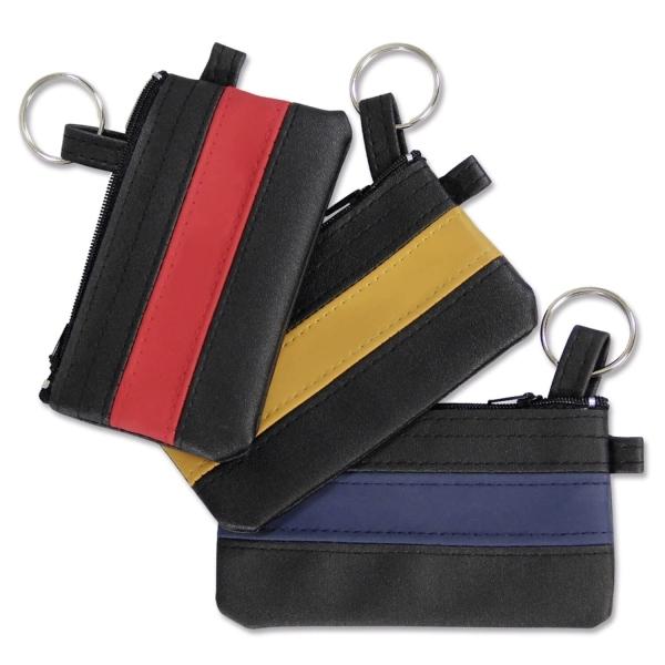 Schlüsseltasche Colour Logo mit rotem Farbstreifen Schwarz/Rot