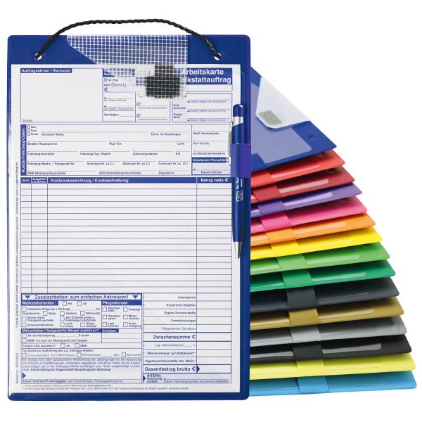 Auftragstasche A4 Top-Quality II mit Schlüsselfach  DIN A4 Blau