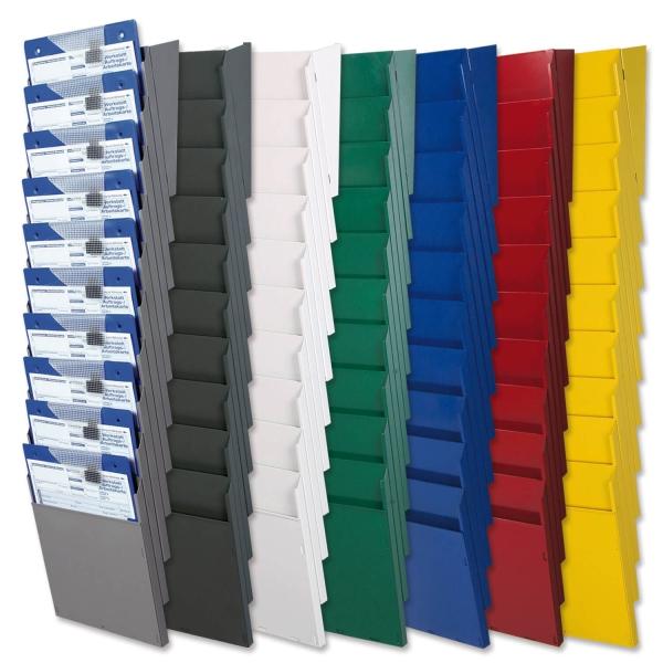 Fächersystem Multi: Griffsicht-System, 10 Fächer für DIN A4  Anthrazit/Umbra