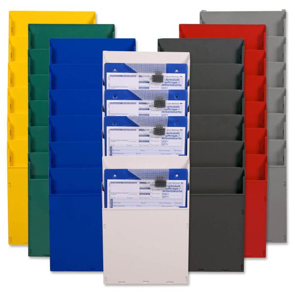 Fächersystem Multi: Griffsicht-System, 6 Fächer für DIN A4  Anthrazit/Umbra