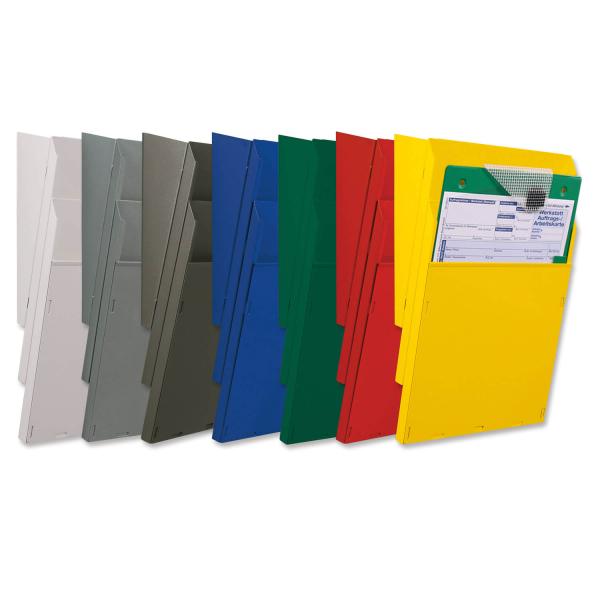 Fächersystem Multi-S 2 Fächer für DIN A4, Griffsicht-System  Anthrazit/Umbra